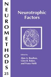 Cover of: Neurotrophic Factors (Neuromethods) |