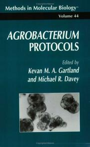 Cover of: Agrobacterium protocols by