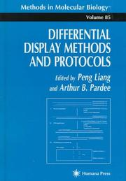 Cover of: Differential display methods and protocols
