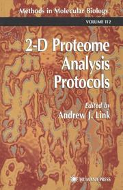 Cover of: 2-D proteome analysis protocols |