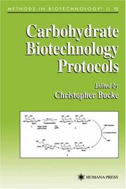 Cover of: Carbohydrate biotechnology protocols |