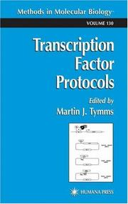 Cover of: Transcription factor protocols |