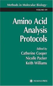Cover of: Amino Acid Analysis Protocols | Catherine Cooper