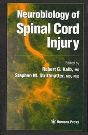 Cover of: Neurobiology of Spinal Cord Injury (Contemporary Neuroscience) |