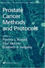 Cover of: Prostate cancer methods and protocols by