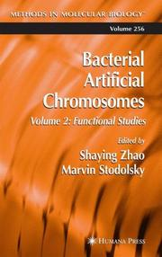 Cover of: Bacterial Artificial Chromosomes: Volume 2 |