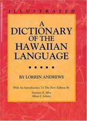 Cover of: A dictionary of the Hawaiian language