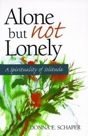 Cover of: Alone but not lonely