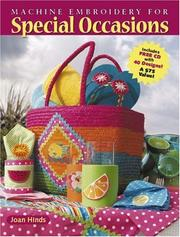Cover of: Machine Embroidery for Special Occasions
