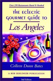 Cover of: The eclectic gourmet guide to Los Angeles