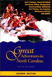 Cover of: Great adventures in North Carolina | Lynn Setzer