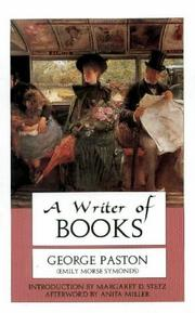 Cover of: A writer of books