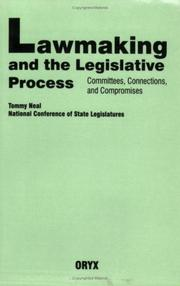 Cover of: Lawmaking and the legislative process