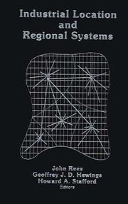 Cover of: Industrial Location and Regional Systems |