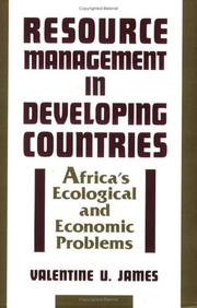Cover of: Resource management in developing countries