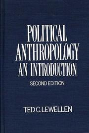 Cover of: Political anthropology