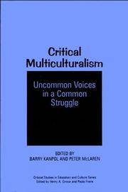 Cover of: Critical multiculturalism