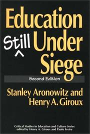 Cover of: Education still under siege