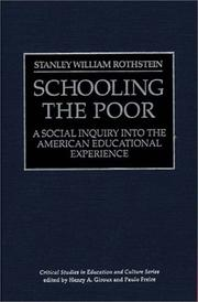Cover of: Schooling the poor