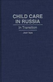 Cover of: Child care in Russia