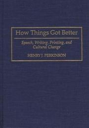 Cover of: How things got better