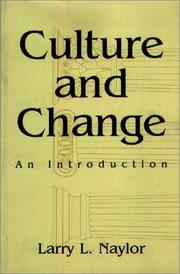 Cover of: Culture and change