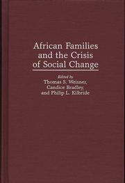 Cover of: African families and the crisis of social change |