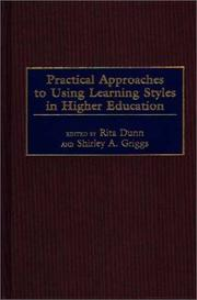 Cover of: Practical approaches to using learning styles in higher education by