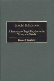 Cover of: Special education | Richard F. Daugherty