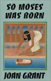 Cover of: So Moses Was Born