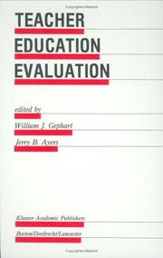 Cover of: Teacher education evaluation |