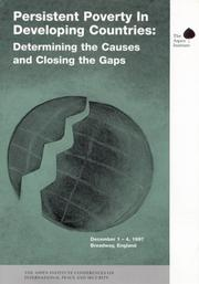 Cover of: Persistent poverty in developing countries |