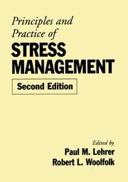 Cover of: Principles and Practice of Stress Management, Second Edition |