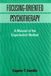 Cover of: Focusing-Oriented Psychotherapy