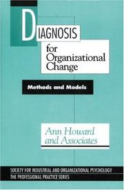 Cover of: Diagnosis for Organizational Change | Ann Howard
