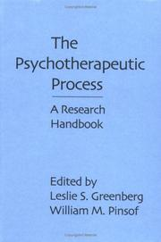 Cover of: The Psychotherapeutic Process |