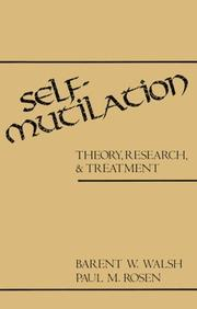 Cover of: Self-mutilation | Barent W. Walsh