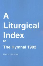 Cover of: Liturgical Index to the Hymnal 1982