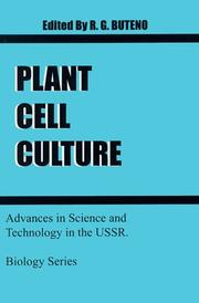 Cover of: Plant Cell Culture (Biology (University Press of the Pacific)) | R. G. Buteno