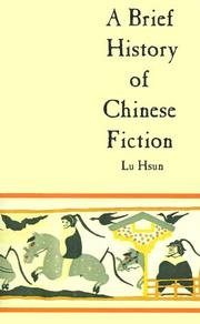 Cover of: A Brief History of Chinese Fiction