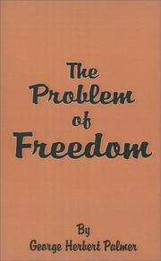 Cover of: The problem of freedom