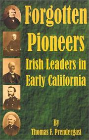 Cover of: Forgotten Pioneers | Thomas F. Prendergast
