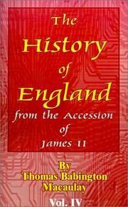 Cover of: The History of England from the Accession of James II | Thomas Babington Macaulay