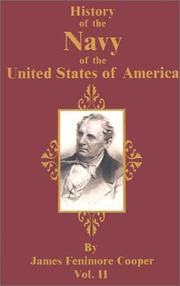 Cover of: History of the Navy of the United States of America | James Fenimore Cooper