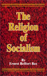 Cover of: The Religion of Socialism