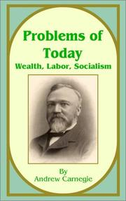 Cover of: Problems of today: wealth, labor, socialism