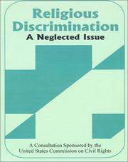 Cover of: Religious Discrimination | United States Commission on Civil Rights.