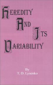 Cover of: Heredity and its variability