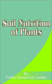 Cover of: Soil Nutrition of Plants