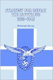Cover of: Strategy for Defeat the Luftwaffe 1933-1945